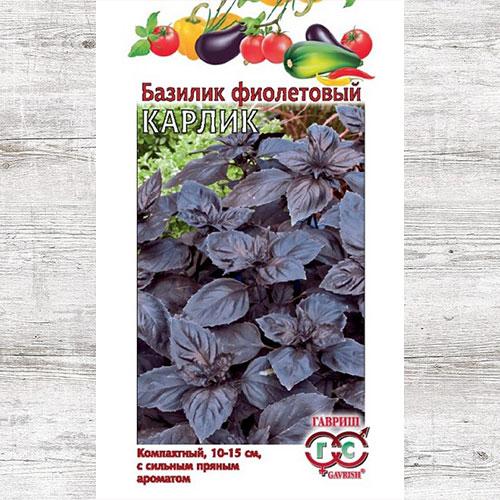 Базилик Карлик фиолетовый Гавриш изображение 1 артикул 65921