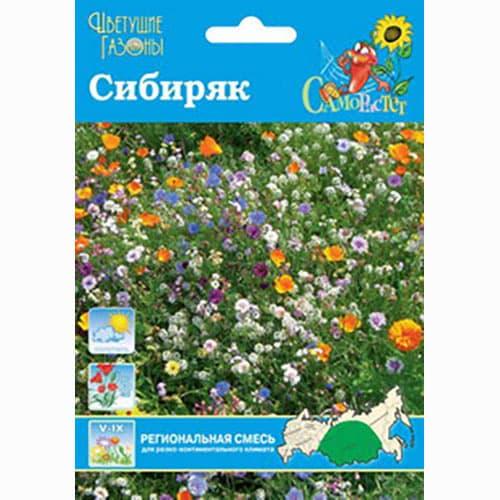 Газон цветущий Сибиряк, смесь окрасок Русский огород НК изображение 1 артикул 66187