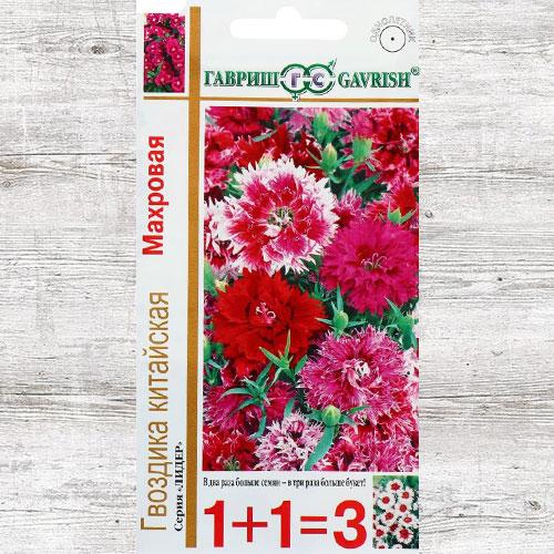 Гвоздика махровая Китайская, смесь окрасок Гавриш изображение 1 артикул 65947