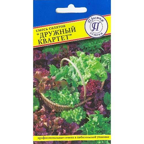 Салат листовой Дружный квартет, смесь сортов Престиж изображение 1 артикул 65760