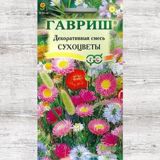 Декоративная смесь сухоцветы, смесь окрасок Гавриш изображение 6