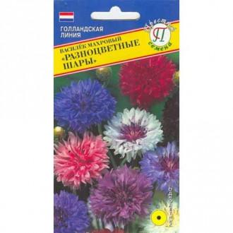 Василек Разноцветные шары, смесь окрасок Престиж изображение 4