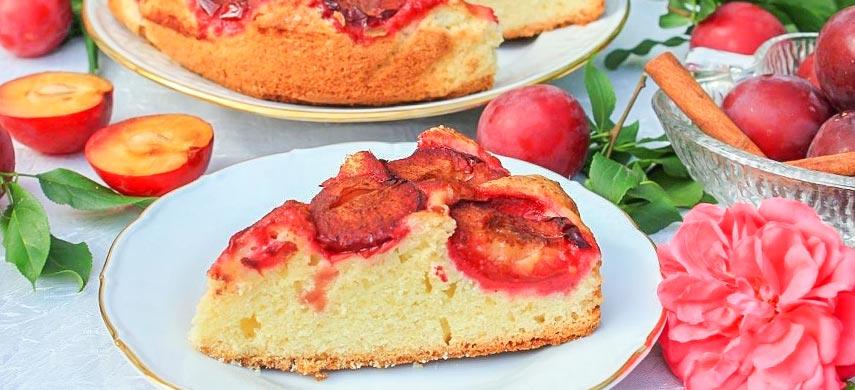 Нежный пирог со сливами: пошаговый рецепт №2